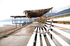 Winter beach Royalty Free Stock Photos