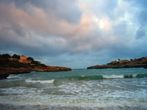 Winter Beach. Beach in Majorca (Balearic Islands) on Winter season Stock Photos