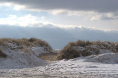 Winter beach stock photography