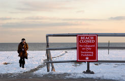 Winter beach. Brighton beach in the winter royalty free stock images