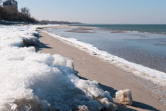 Winter beach of Baltic sea Royalty Free Stock Images