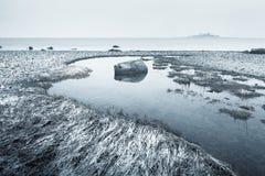 Winter Beach Stock Images