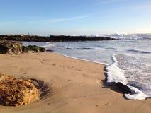 Winter beach stock image