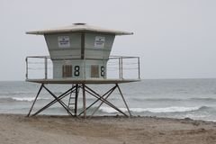 Winter Beach Lifeguard Station Royalty Free Stock Image