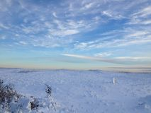 Winter Beach Sunset Royalty Free Stock Photography