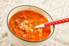 Winter bean soup Royalty Free Stock Image