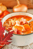 Winter bean soup Royalty Free Stock Photos