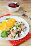 Winter beans salad Stock Photo
