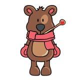 Winter bear Royalty Free Stock Photo