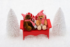 Winter Bears Royalty Free Stock Photo