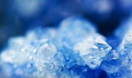 Winter beautiful background of beautiful of blue crystals. Macr stock photos
