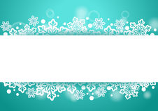 Winter Beautiful Background with Snow Flakes and White Space for Words Royalty Free Stock Image