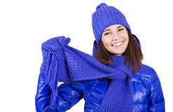 Winter beautiful girl. Stock Image