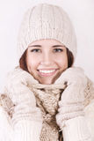 Winter beautiful girl Stock Images