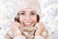 Winter beautiful girl Royalty Free Stock Photography