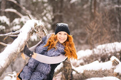 Winter beautiful girl Royalty Free Stock Photo