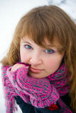 Winter Beautiful Lady Royalty Free Stock Photo