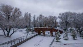 Winter beautiful park landscape Stock Photo
