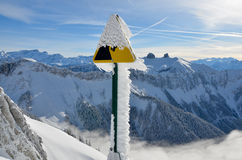 Winter. Beautiful winter photo in Switzerland alps Royalty Free Stock Images