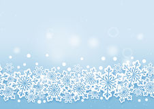 Winter Beautiful Snows Background Stock Images