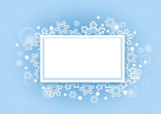 Winter Beautiful Snows Background with White Space Royalty Free Stock Photos