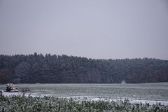 Winter landscapes of Bavaria. Winter, beautiful and snowy landscapes in Germany stock image