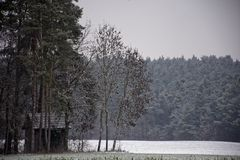 Winter landscapes of Bavaria. Winter, beautiful and snowy landscapes in Germany stock images