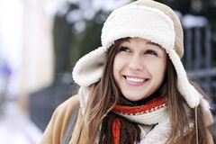 Winter beauty. Winter collection: portrait of beautiful woman in wintertime Royalty Free Stock Photography