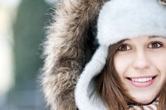 Winter beauty. Winter collection: portrait of beautiful woman in wintertime Royalty Free Stock Image