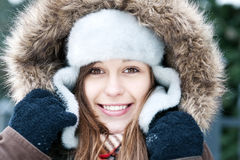 Winter beauty. Winter collection: portrait of beautiful woman in wintertime Royalty Free Stock Images