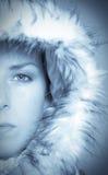 Winter beauty. Beautiful girl with warm winterhat Stock Photos