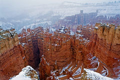 The winter beauty of Bryce Canyon Royalty Free Stock Photo