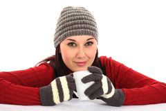 Winter Beauty Girl Stock Photography