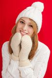 Winter Beauty Girl Royalty Free Stock Photography