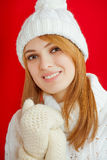 Winter Beauty Girl Stock Image