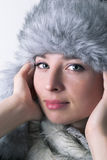 Winter beauty portrait Royalty Free Stock Photo