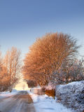 Winter beauty in small village -  nature Royalty Free Stock Photography