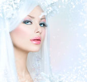 Winter Beauty Woman Stock Photos