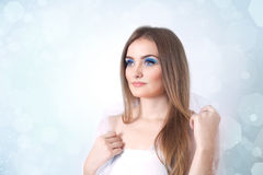 Winter beauty young woman portrait Royalty Free Stock Photos