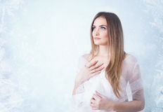 Winter beauty young woman portrait Royalty Free Stock Photography
