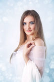 Winter beauty young woman portrait Royalty Free Stock Photo