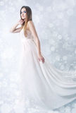 Winter beauty young woman portrait Stock Photos