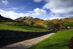 Winter on Beda and Place Fells Stock Photography