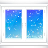 Winter behind a window Royalty Free Stock Image