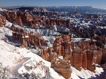 Winter bei Bryce Canyon lizenzfreies stockfoto