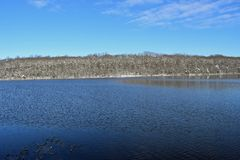 Winter bei Burke Lake, Virginia lizenzfreie stockbilder