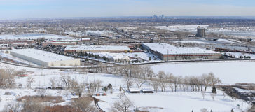 Winter bei Denver West Lizenzfreies Stockbild