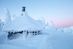 Winter bei Lappland Stockfoto