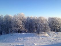 Winter of BELARUS royalty free stock image
