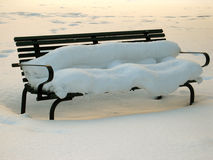 Winter bench Stock Photos